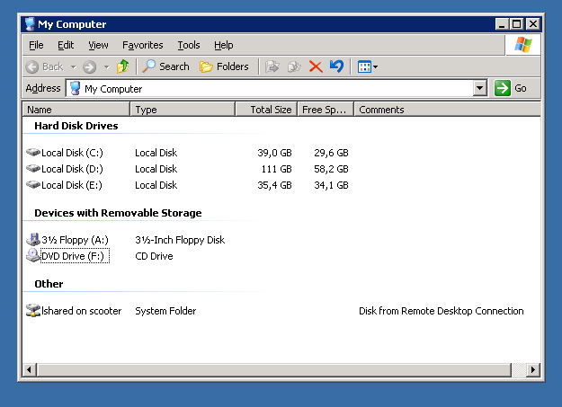 Quick data transfer between Linux and Windows « \1